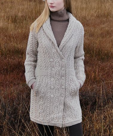 Look what I found on #zulily! Parsnip Cable-Knit Double-Breasted Wool Cardigan #zulilyfinds