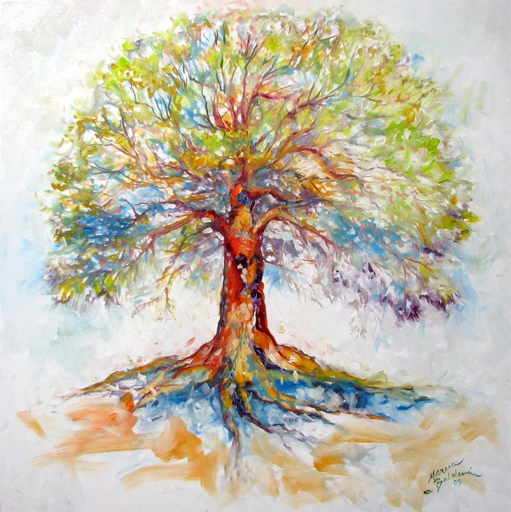Absolutely LOVE this painting. I have this obsession with trees. DAILY PAINTERS MARKETPLACE: TREE of LIFE ~ HOPE by M BALDWIN