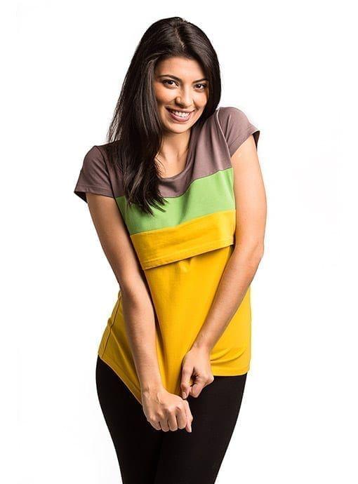 9950281ad Camiseta Runa mostaza - lactancia y premamá