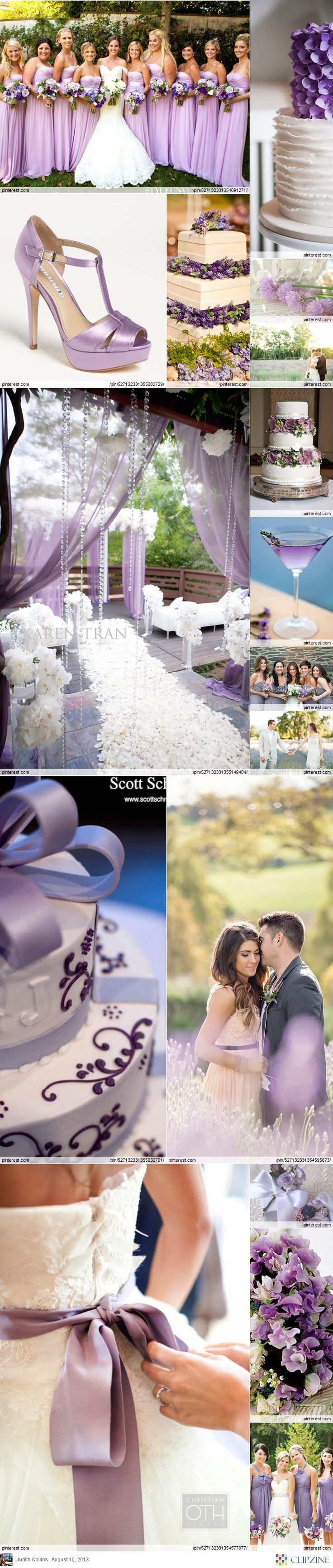 Lavender Weddings- perfect color scheme @Keri Whaitiri Whaitiri Hannie I bet you will think this is pretty