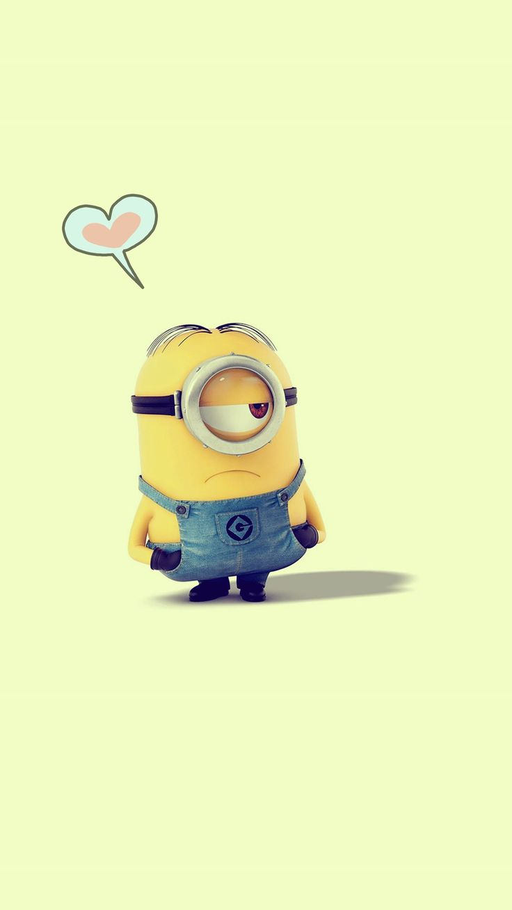 adorable Despicable Me minion apple iphone 6 plus wallpaper HD for 2014 Halloween #2014 #Halloween