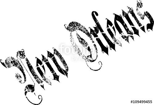 Vettoriale: New Orleans text illustration