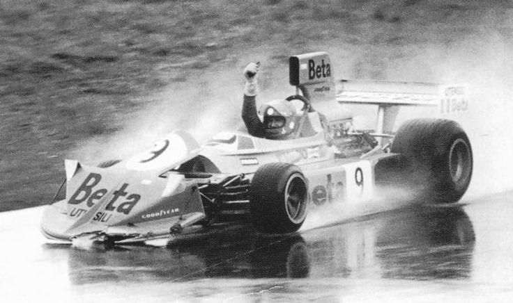 Vittorio Brambilla, Winner Austrian GP 1975,  March 751. Won the race and then crashed.