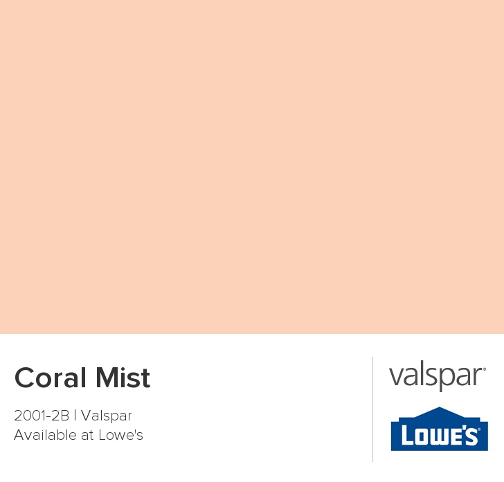 Accent Wall Color Picker: Coral Mist From Valspar In 2019
