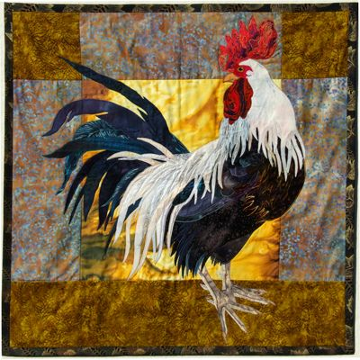 Big Rooster - applique quilt pattern.