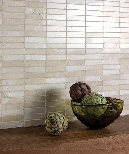 Latte Marble Linear Mosaic Tile