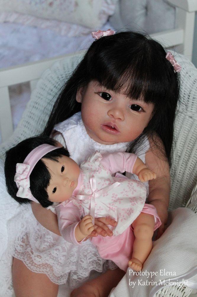 Reborn Prototype Toddler Doll Elena by Regina Swialkowski Katrin McKnight in Dolls & Bears, Dolls, Reborn | eBay