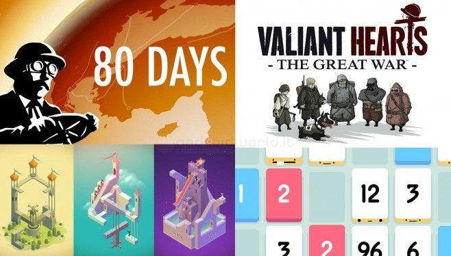 Stiamo parlando dei cinque miglior giochi per Android del 2014, Monument Valley, 80 Days, del puzzle game Threes!, dell'avventura di Ubisoft a fumetti