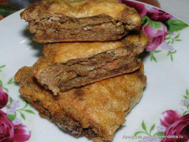 Печень в лаваше