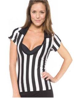 Women's referee scoop shirt