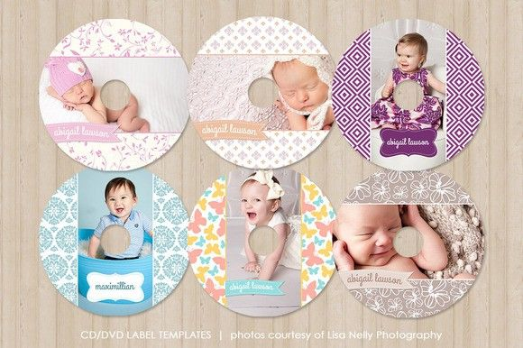 Pretty CD / DVD Label Templates. Stationery Templates