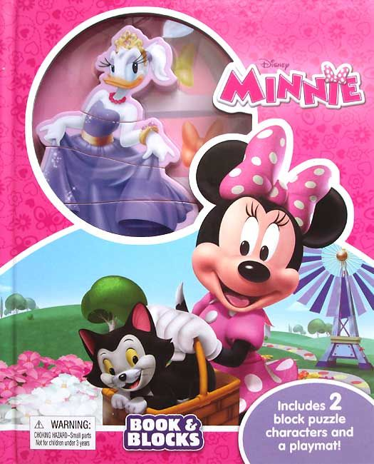 Disney Minnie Book & Blocks Includes 2 Block Puzzle Characters and a Playmat, Di buku ini ada 2 character block puzzle (Minnie dan Daisy). 1 block..........