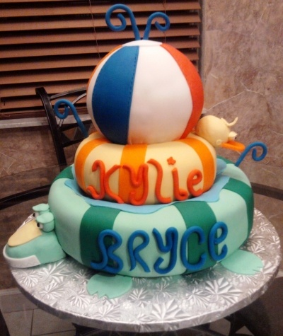 Pool party By j1handal on CakeCentral.com