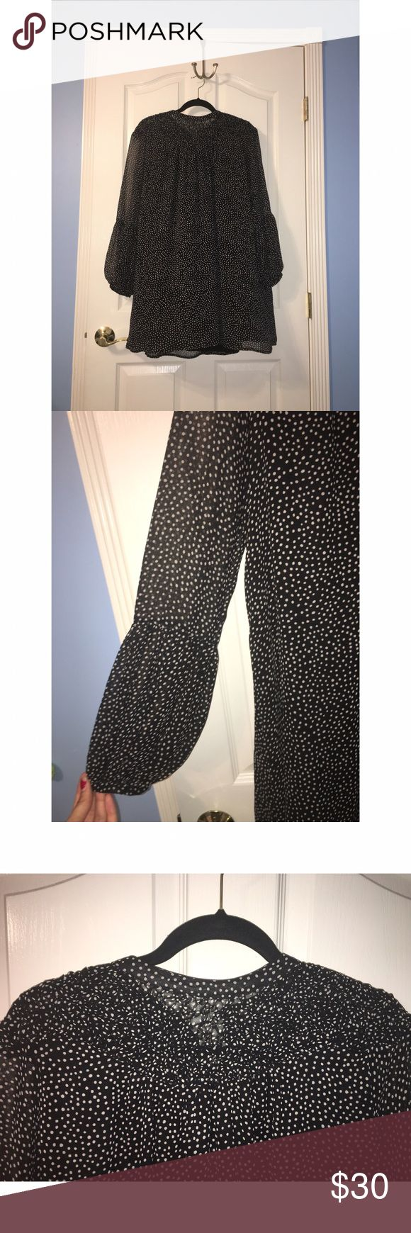 NWOT Zara Polka Dot Long Sleeved Dress 💕 this is a brand new never been used Dress from Zara. The tags are not attached. Zero imperfections 💕 Zara Dresses Long Sleeve