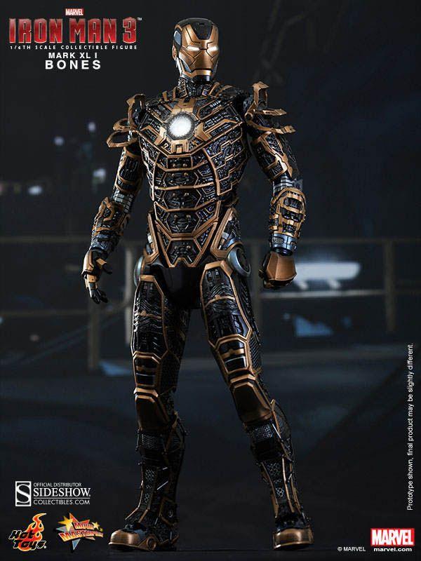 """Figura Mark XLI Bones 30 cm. Movie Masterpiece. Iron Man 3. Hot Toys Espectacular figura de edición limitada de la armadura Mark XLI apodado """"Bones"""" de 30 cm de altura, con accesorios y 100% oficial y licenciada. Una auténtica preciosidad que encantará a todos los fans."""