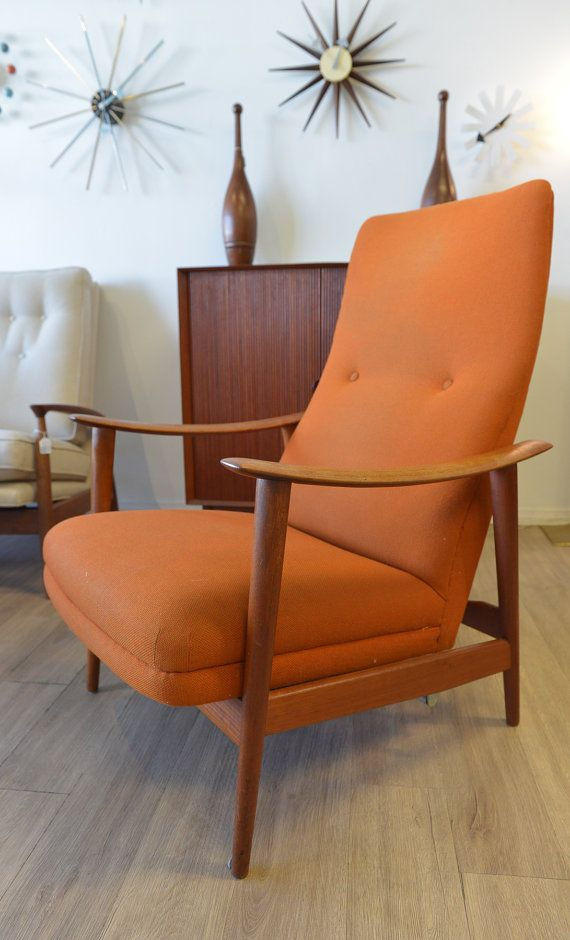 Danish Modern Westnofa Lounge Chair. Orange FurnitureRetro ...
