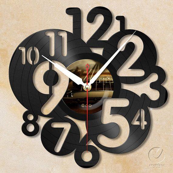 vinyl wall clock  letter no.4 by Anantalo on Etsy