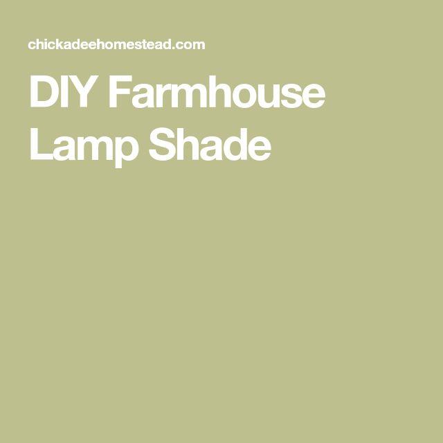 DIY Farmhouse Lamp Shade