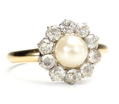 Vintage Pearl Wedding Ring 0 Popular History of pearl engagement