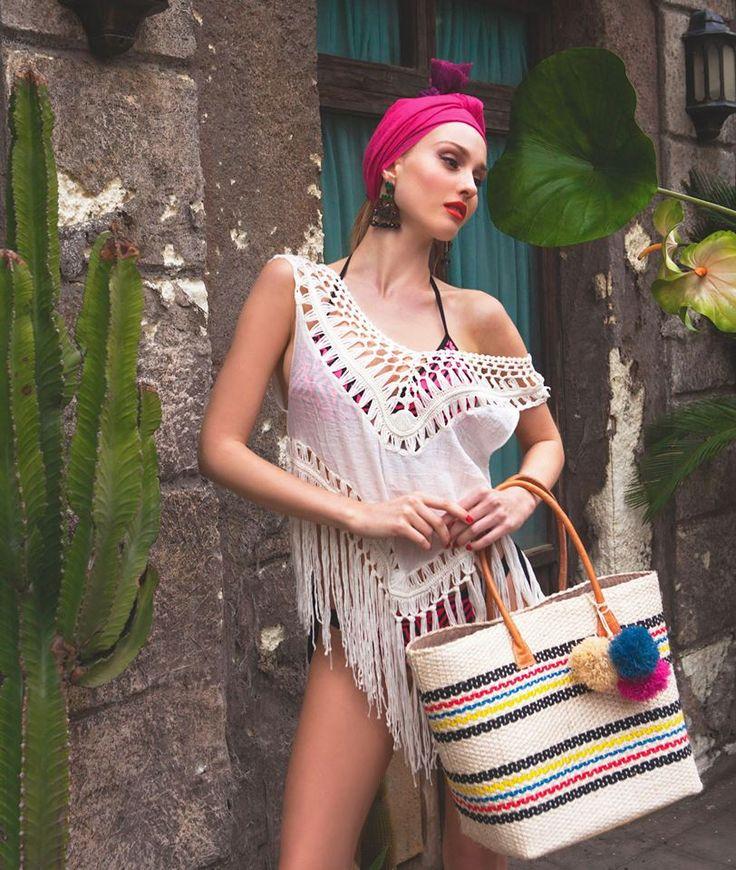perfect @ the beach #crochet #beachbag #beachwear #reefcode