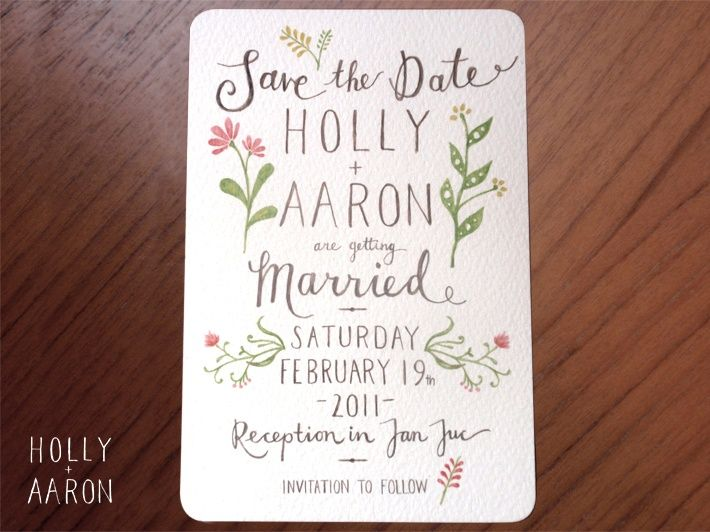 LOVE this Aviary studio handdrawn wedding invitation