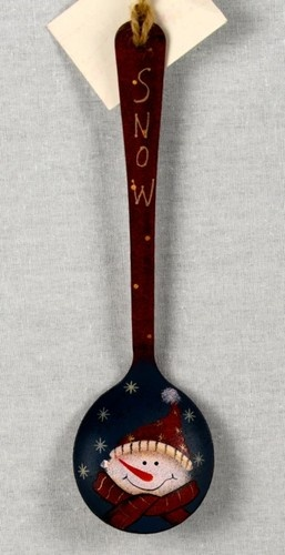 Metal Snowman Spoon Christmas Ornament Rustic Primitive Country Decor