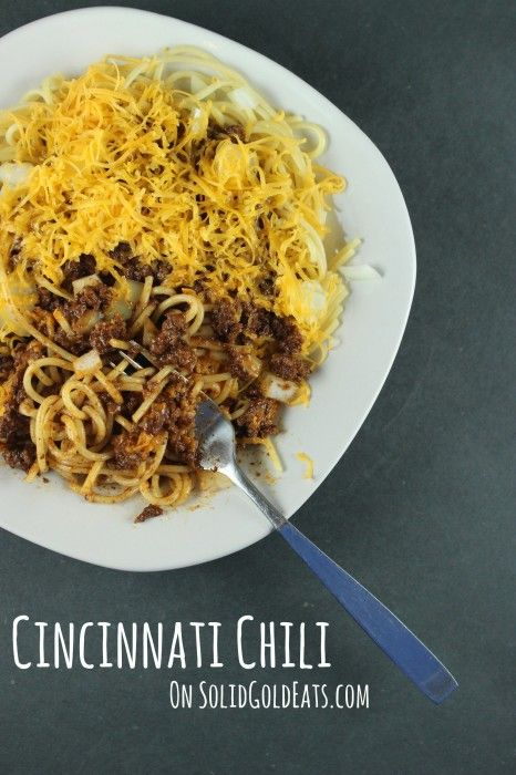Cincinnati Chili (Without the Drive) | Solid Gold Eats | Pinterest