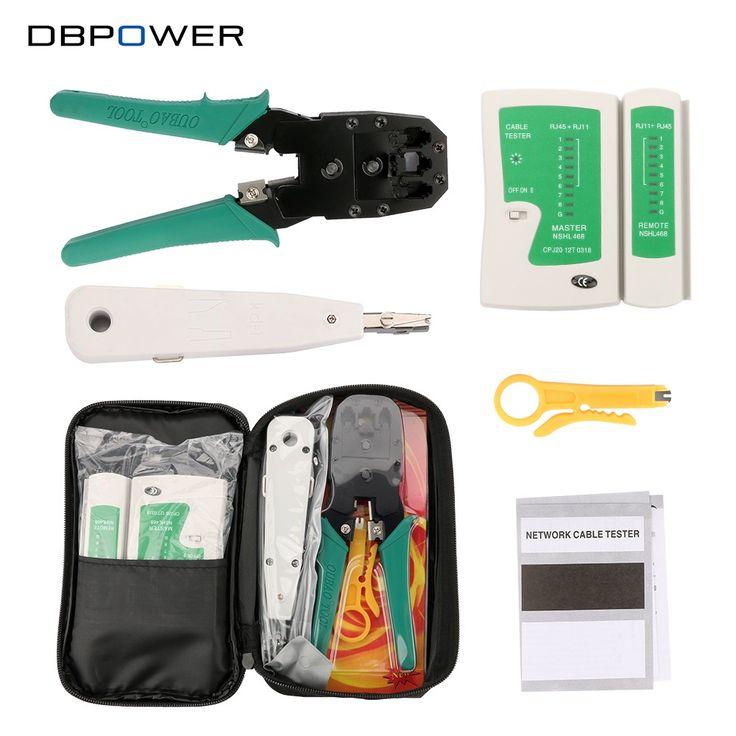 DBDBPOWER Network Ethernet Cable Tester RJ45 Kit RJ45 Crimper Crimping Tool Punch Down RJ11 Cat5 Cat6 Wire Line Detector