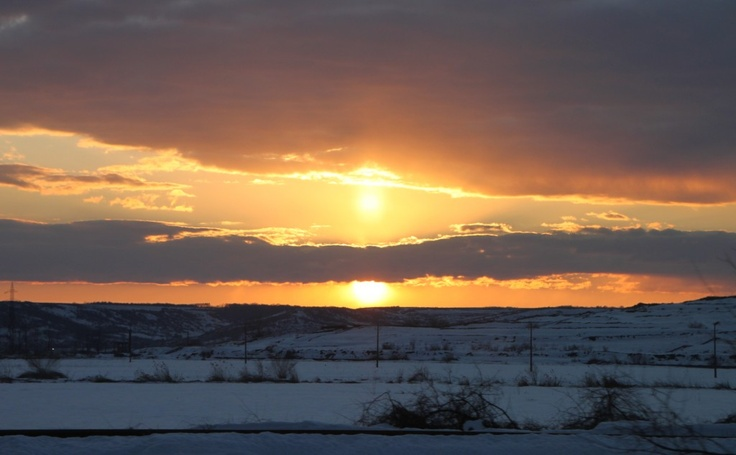 Dark Sunset and Red Sun Rays, Winter - Public Domain Photos, Free Images for Commercial Use