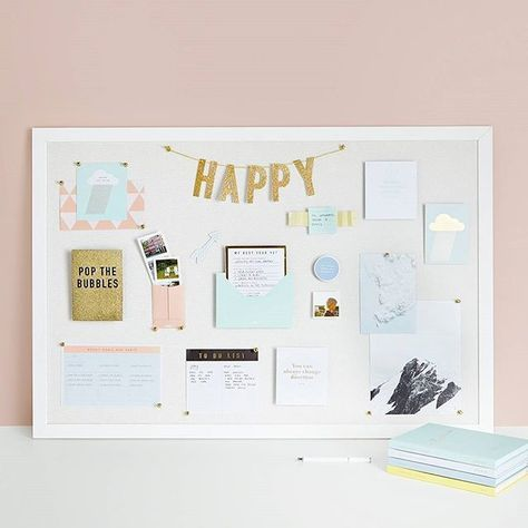 A Vision Board is the perfect place to display all of your dreams, goals and inspirations. Use it as a visual guide that helps you work towards your dream life. We're sharing some of our favourite ideas to decorate yours at kikki-k.com/blog.
