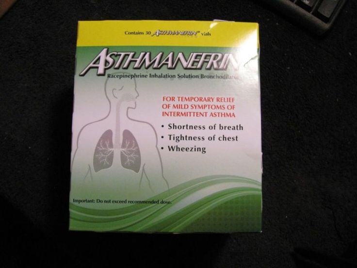 10 Asthmanefrin Refill Vials Asthma Inhaler Factory Sealed Expires JULY2017 LOOK #ad