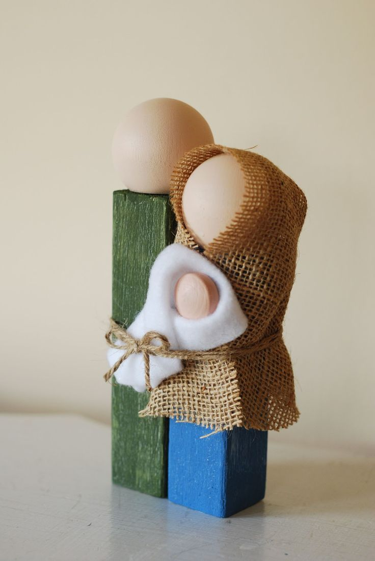 Simple Wooden Nativity