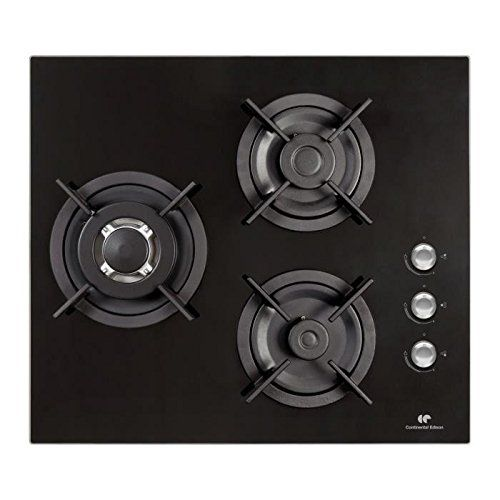 CONTINENTAL EDISON CTG3VB – Table de cuisson gaz 3 foyers