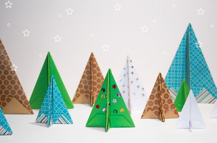 Want to make your own decorations for Christmas this year but don't know what to make? Get into the Christmas spirit by creating these origami Christmas trees! These little trees are so simple to make and take no time at all!