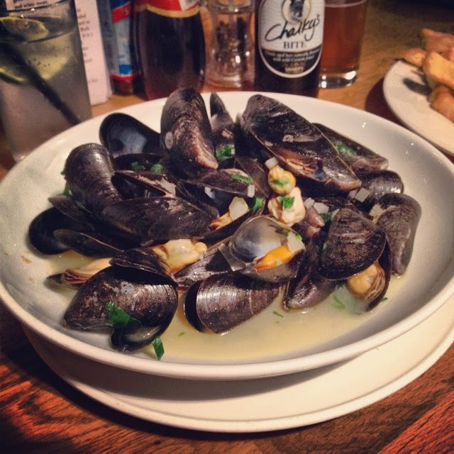 steamed mussels mussels with pancetta and vermouth beer mayo saffron ...