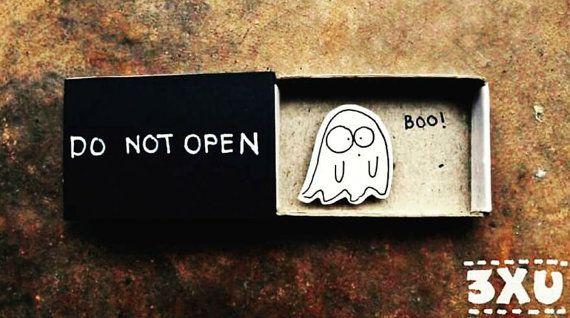 Humor Surprise card/ Cute Halloween Card/ Do Not Open Card/ Ghost Card/ Halloween Card/ Funny/ Anniversary Card/ Matchbox/ Boo!/OT093