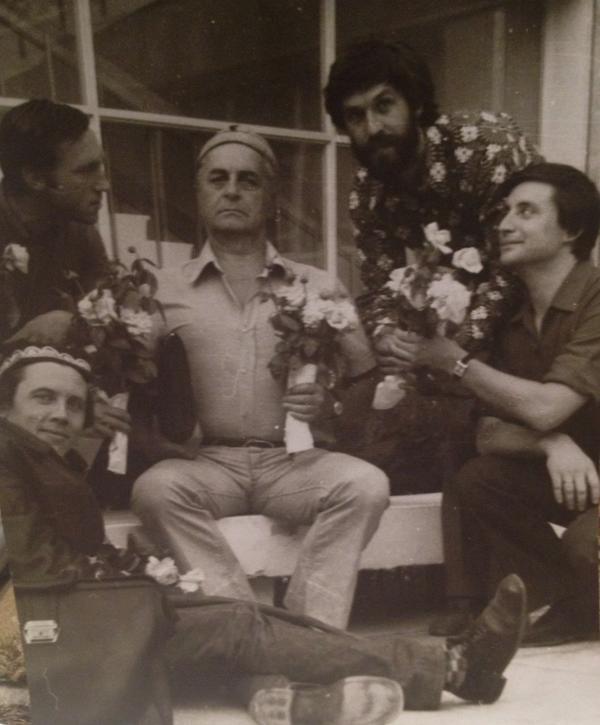 Юрий Любимов, Владимир Высоцкий, Валерий Золотухин, Борис Хмельницкий, Вениамин Смехов