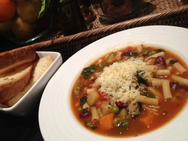 Organic Minestrone soup. Read my magazine for free at www.lilyonlinemagazine.com