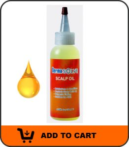 DERMASOLVE- A psoriasis scalp oil can soften and loosen the dead cells so they can be removed more easily.