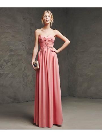 Gaas jurk met liefje hals en gedrapeerde lijfje met geknoopte effect in het centrum