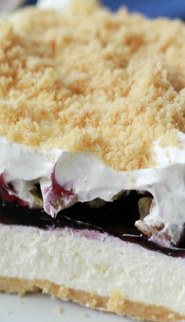 NO blueberry....cherry or strawberry sounds yummy, with light cream cheese and light whipped topping. Cut the calories a bit.