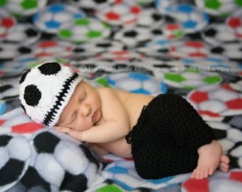 baby boy hat, baby girl hat, soccer beanie, crochet soccer hat, photo prop, sports, baby shower gift, coming home outfit, crochet sport