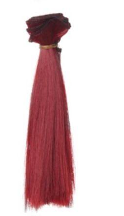 50 cm de Cheveux artificiel pour poupée auburn, touché très doux et soyeux.  Pour création de poupée ou réparation   Longueur des cheveux 15 cm   Pour toute question n' - 8149574