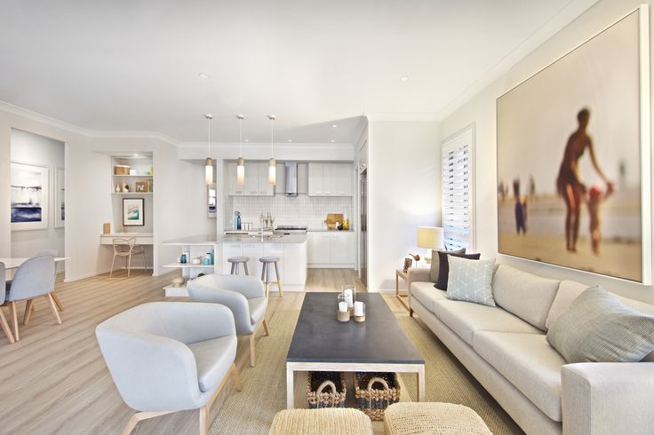 Clarendon Homes.  Brighton 30.  Beach side retreat feel of the family room.