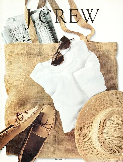 Summer 1992 cover... or why I love J.Crew: I would still wear everything on here. It's timeless.