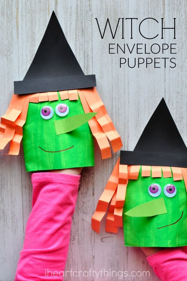 This envelope witch craft puppet is simple and perfect for this Halloween season and you more than likely already have all of the materials on hand.