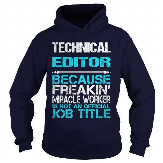 TECHNICAL EDITOR - miracle - #white hoodies #kids t shirts. CHECK PRICE =>…