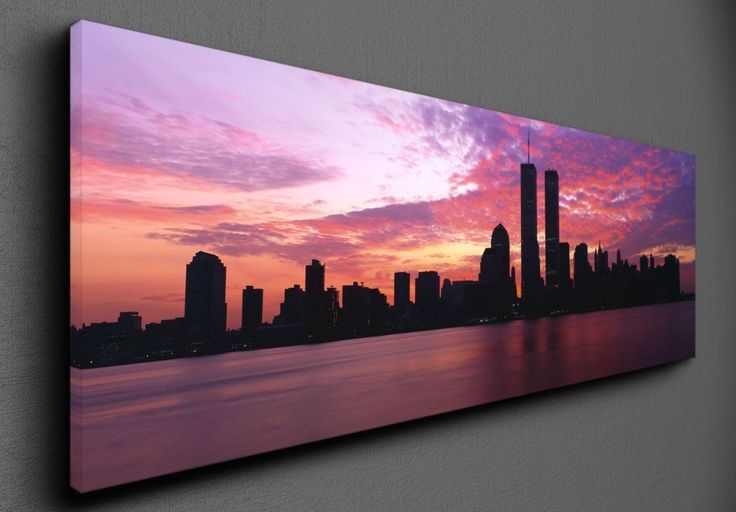Manhattan skyline from New Jersey - Canvas