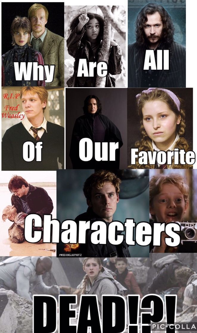 Personally I Feel Really Upset That The Character That Has Are On Her Is Dead Shes From The Hunger Game Harry Potter Feels Harry Potter Puns Harry Potter Funny