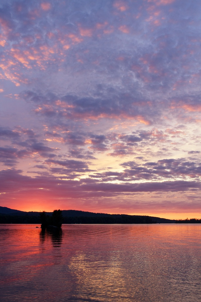Moosehead Lake, Maine    My picture of sunset on our last day